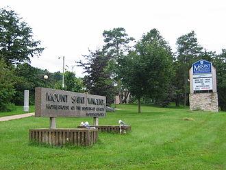 Mount Saint Vincent University - Mount Saint Vincent University Entrance from the Bedford Highway, Halifax
