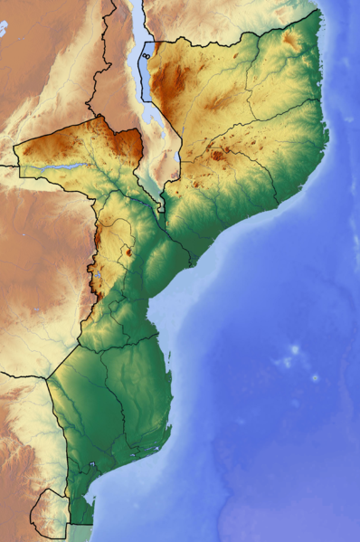 Fichier:Mozambique location map Topographic.png
