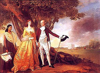 Warren Hastings - Warren Hastings with his wife Marian in their garden at Alipore, c. 1784–87