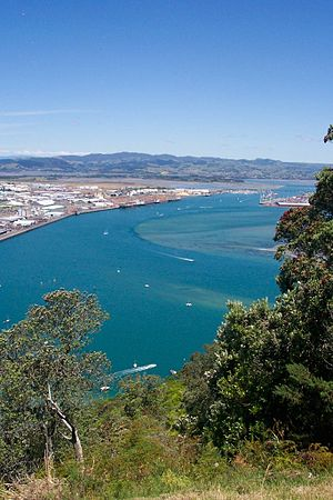 Tauranga - View over Greater Tauranga, taken from the top of Mauao