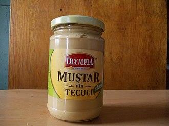 Mustard (condiment) - Romanian Tecuci mustard