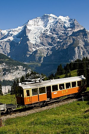 Transport in Switzerland - Mürren train
