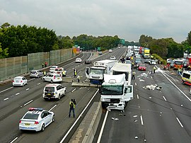Multiple-vehicle collision - Wikipedia