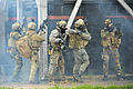 Multinational students attending the International Special Training Center's (ISTC) advanced close quarter battle course participate in a field training exercise at the Hohenfels Training Area 130529-A-BS310-062.jpg