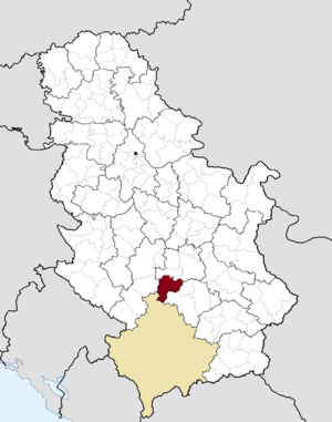 Brus - Image: Municipalities of Serbia Brus