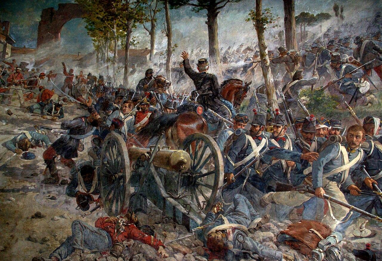 Giuseppe Vizzotto Alberti - La battaglia del Volturno (particolare)