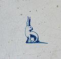 Museum Ons' Lieve Heer op Solder - Delftware tile - rabbit.JPG