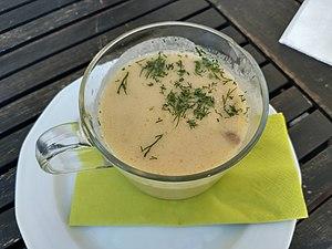 Mushroom soup in Sierakow