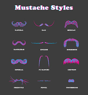 English: Mustache Catalog