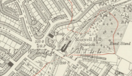 Muswell Hill station, 1920.png