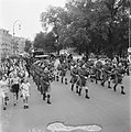 Muziekkorps van het regiment The Seaforth Highlanders of Canada Doedelzakspeler, Bestanddeelnr 900-4781.jpg