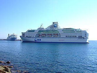 Maritima Ferries - MS Danielle Casanova departing the port of Bastia