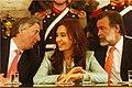 Néstor y Cristina Kirchner junto al Canciller Bielsa.jpg