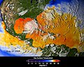 NASA ASMR-E image of average SSTs of Hurricane Katrina.jpg
