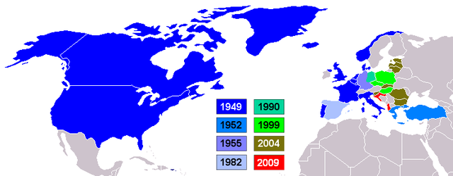 From commons.wikimedia.org: NATO countries {MID-112244}
