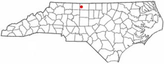 Madison, North Carolina - Image: NC Map doton Madison