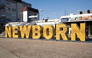 Newborn monument - Image: NEWBORN Monument