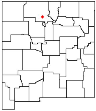 Abiquiu Lake - Image: NM Map doton Abiquiu