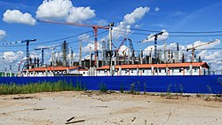 NN Strelka Stadium construction 08-2016.jpg