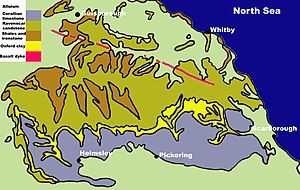 North York Moors - Simplified geology of the North York Moors