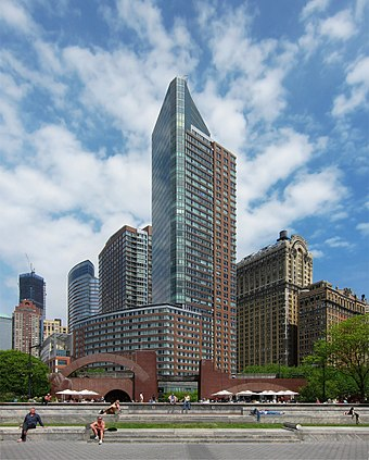 Southern part of Battery Park City; Millennium Point is shown. NY battery park city.jpg