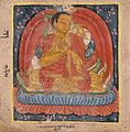 Nagarjuna (left), Buton Rinpoche (right), Folio from a Dharani (Protective or Empowering Spells) LACMA M.81.9.1.jpg