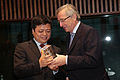 Nan Cunhui, Chairman, Chint Group, awarded by Premier Juncker - Flickr - Horasis.jpg
