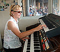 Nancy Faust in Cellular Field organ booth 2010-09-27 3.jpg