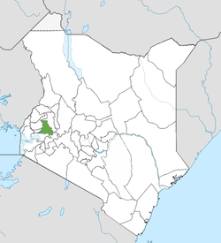 Location of Nandi County (Green)