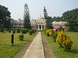 Uttara Gano Bhaban, earlier known as Natore Rajbari, is now used as the Prime Minister's local residence and office in the northern region of Bangladesh