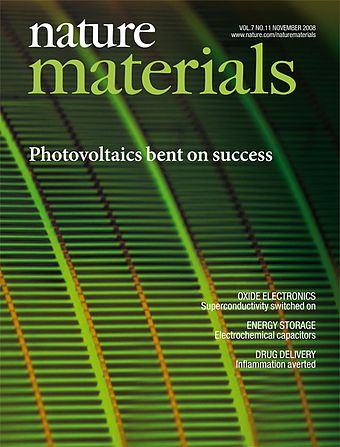 Nature Materials, a specialized journal from Nature Research. Nature Materials Nov 2008.jpg