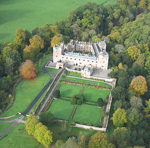 Naworth Castle - Image: Naworth Castle air 1