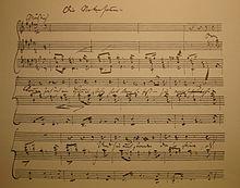 Autograph of Die Nebensonnen (The Sun dogs) from Winterreise (Source: Wikimedia)