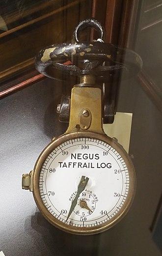 Chip log - Image: Negus Taffrail Log