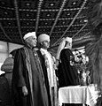 Nehru and Sheikh Abdullah at Kashmir University convocation.jpg