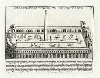 Circus of Nero - Drawing of the Circus of Nero (Pietro Santi Bartoli, 1699)