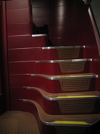 New Routemaster - Rear spiral staircase
