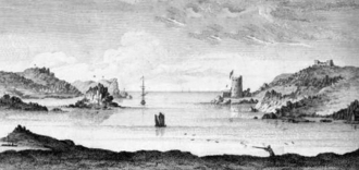 William Borlase - New Grimsby harbour, from Observations on the Ancient and Present State of the Islands of Scilly, and their Importance to the Trade of Great Britain