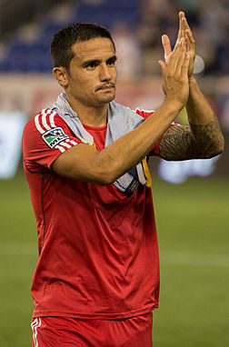 Cahill wi the New York Red Bulls in 2014