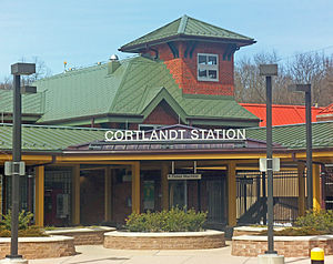 Cortlandt (Metro-North station) - Entrance to the new station building