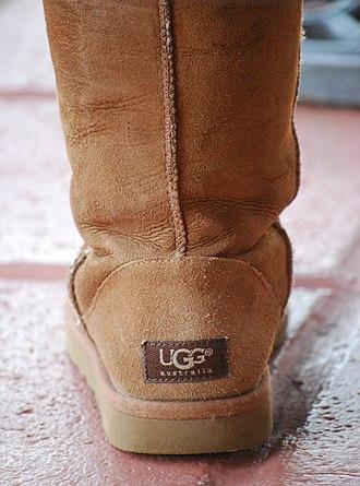 UGG (brand) - The back of an UGG boot