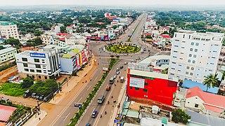 Đồng Xoài City in Bình Phước Province, Vietnam