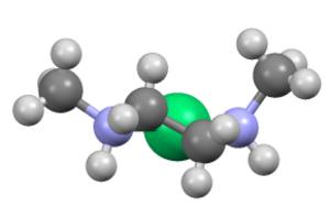 1,2-Dimethylethylenediamine - Image: Ni(DMEN)2Cl 2frag