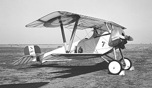 Le Rhône 9J - The Addems-Pfeifer Nieuport 11 replica pictured at Porterville, CA in 1962.