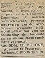 Nieuwe Venlosche Courant vol 061 no 164 advertisement lawyers' office Mostart.jpg