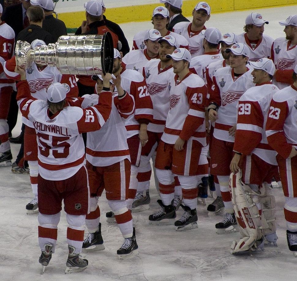 Niklas Kronwall with Stanley Cup