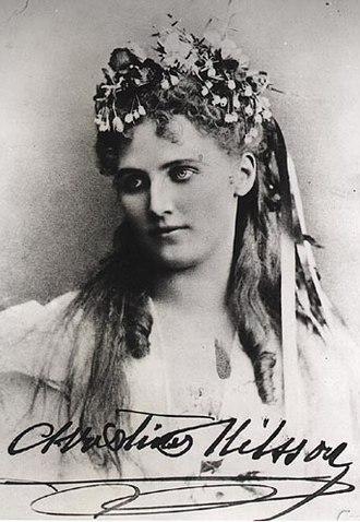 Christina Nilsson - Autographed photograph.