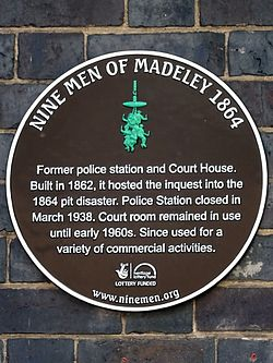 Nine men of madeley 1864   former police station and court house