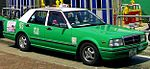 Nissan Cedric Hong Kong taxicab (HK KCRTaiPoMarketStation (cropped)).JPG