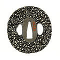 Noda Mitsuhiro II - Tsuba with One Hundred Monkeys - Walters 51133 - Back.jpg